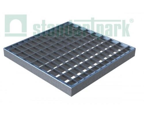 Решетка водоприемная Basic РВ-28.28 ячеистая стальная оцинкованная