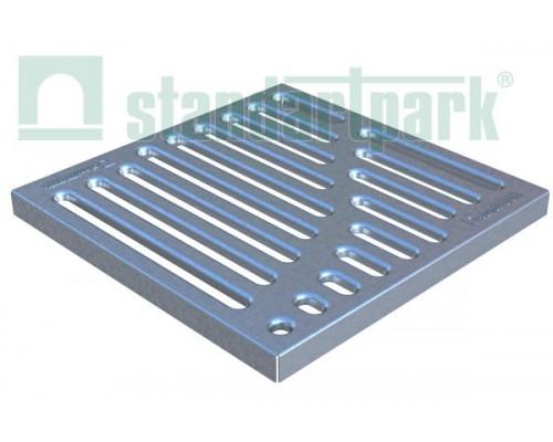Решетка стальная штампованная Basic (оцинкованная) к дождеприемнику