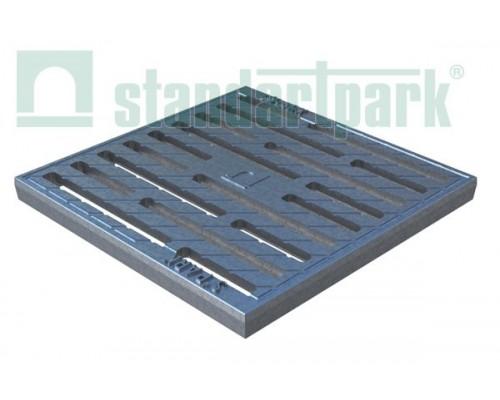 Решетка водоприемная Basic РВ-28.28 щелевая чугунная СЧ оцинкованная