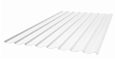 Профилированный прозрачный поликарбонат 0,8 мм